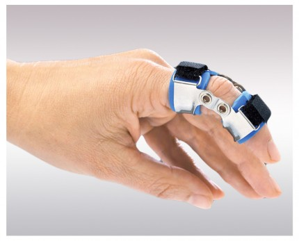Finger splint for PIP joint flexion and extension