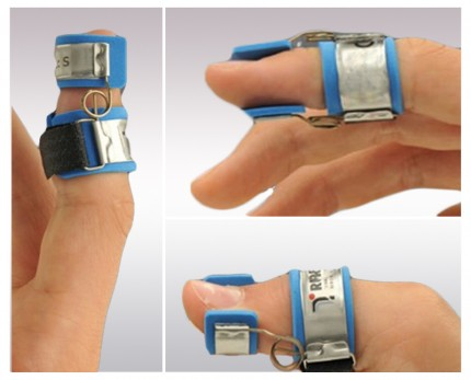 Finger splint for DIP joint straightening