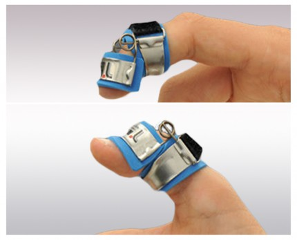 Finger splint for DIP joint bending