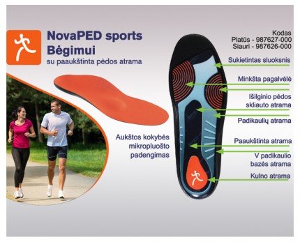 Shoe inserts for running with the elevated external arch support