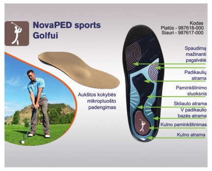 Shoe inserts for golf