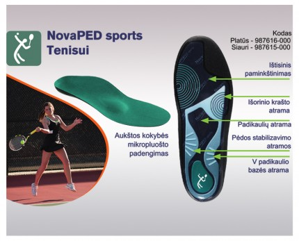 Shoe inserts for tennis, badminton, table tennis, and squash
