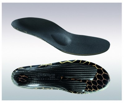 Carbon fiber shoe inserts for running, race and nordic walking