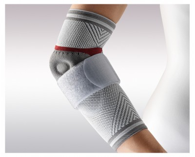 Elbow orthosis DYNAMIC Epi Plus with the tape to treat epicondylitis (tennis elbow)