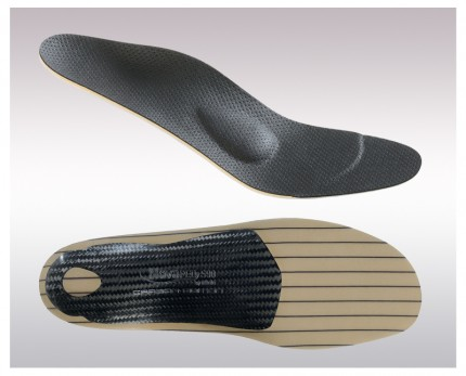 Carbon fiber insoles for classic footwear
