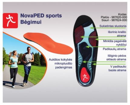 Walking and running insoles