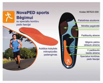 Runing insoles with cut-out of the plantar fascia tendon