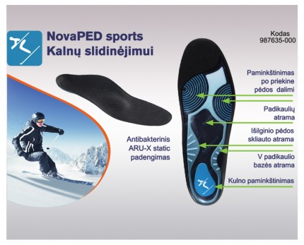 Shoe inserts for downhill skiing