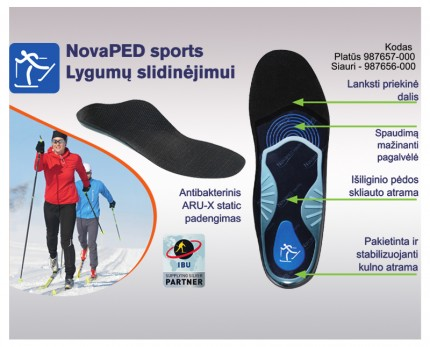 Shoe inserts for cross-country skiing