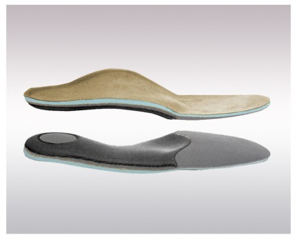 Individual instant insoles for rheumatic feet