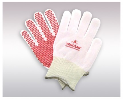 Gloves for  putting on compression socks