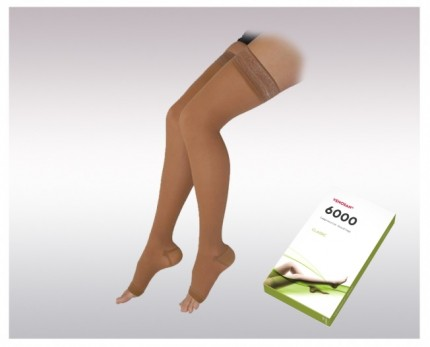 Thigh-high compression socks (2 Ccl.)