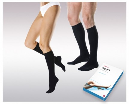 Knee-high elastic compression socks (2 Ccl.)
